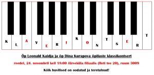 Õp Leonald Kaidja ja õp Dina Kurapova õpilaste klassikontsert